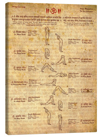 Canvas print  Sun salutation, yoga - Sharma Satyakam