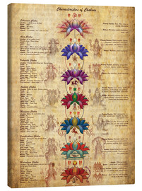 Canvas print  Meaning of the chakras - Sharma Satyakam