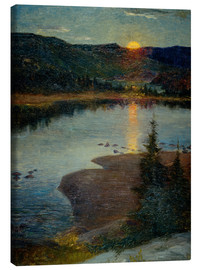 Canvas print  Moonrise in Valdres - Eugen von Schweden