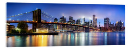 Acrylic glass  Brooklyn Bridge panorama in New York City, USA - Jan Christopher Becke