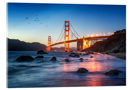 Acrylic print  Golden Gate Bridge at sunset in San Francisco, USA - Jan Christopher Becke