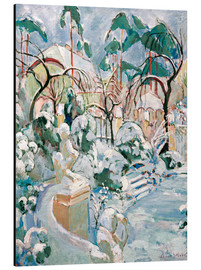 Alu-Dibond  Garden in the snow - Oskar Moll