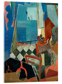 Acrylic print  Window view with pipe, glass and tiled floor - Oskar Moll