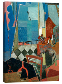 Canvas print  Window view with pipe, glass and tiled floor - Oskar Moll
