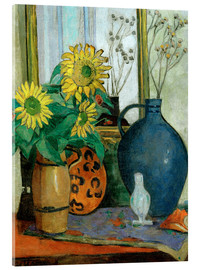 Acrylic print  Sunflowers with Matisse shell - Oskar Moll