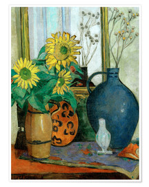 Oskar Moll - Sunflowers with Matisse shell