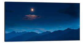 Aluminium print  Moon over mountains - Mark Scheper