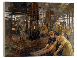 Wood print  The Munitions Girls - Stanhope Alexander Forbes