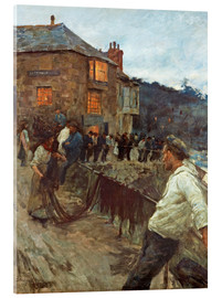 Acrylic print  The wharf in Newlyn - Stanhope Alexander Forbes