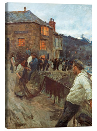 Canvas print  The wharf in Newlyn - Stanhope Alexander Forbes