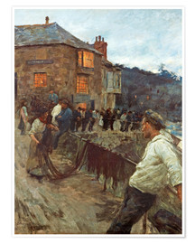 Premium poster  The wharf in Newlyn - Stanhope Alexander Forbes