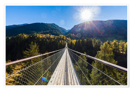 Premium poster Goms Bridge in Canton of Valais