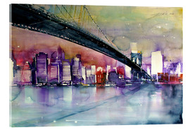 Acrylic print  New York, Brooklyn Bridge III - Johann Pickl