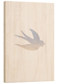Wood print  Swallow - Ohkimiko