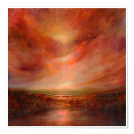 Premium poster  evening glow - Annette Schmucker