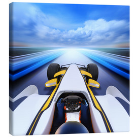 Canvas  F1 car at full speed