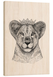 Wood print  The lion prince - Valeriya Korenkova