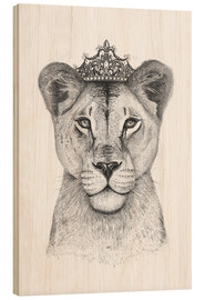 Wood print  The Queen - Valeriya Korenkova