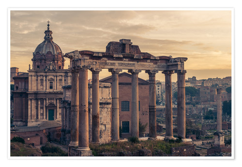 Premium poster The Roman Forum at sunrise