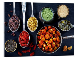 Acrylic print  Various superfoods