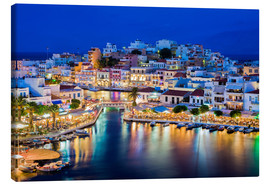 Canvas print  Agios Nikolaos on the island of Crete