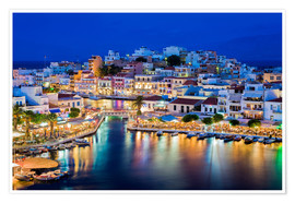 Premium poster Agios Nikolaos on the island of Crete