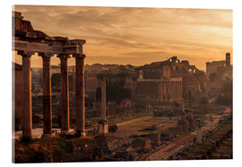 Acrylic print  Rome : the Temple of Saturn