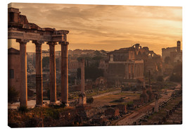 Canvas print  Rome : the Temple of Saturn