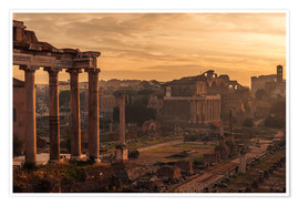 Premium poster Rome : the Temple of Saturn