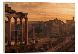 Wood print  Rome : the Temple of Saturn