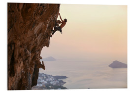 Foam board print  Climber on Kalymnos - Greece