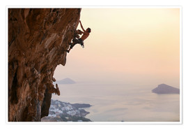 Poster  Climber on Kalymnos - Greece