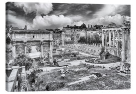 Canvas print  ruins of the Roman Forum in Rome