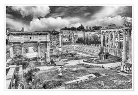 Premium poster  ruins of the Roman Forum in Rome