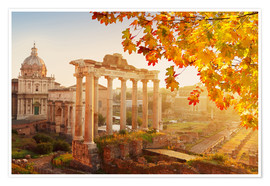Premium poster Roman ruins in the sunlight