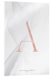 Acrylic print  ROSE GOLD LETTER COLLECTION A - Stephanie Wünsche