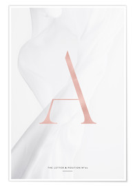 Premium poster  ROSE GOLD LETTER COLLECTION A - Stephanie Wünsche