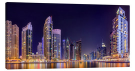 Canvas  Panoramic view - Dubai Marina Bay