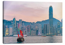 Canvas print  Skyline of Victoria Harbor, in Hong Kong