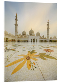 Acrylic glass  Courtyard of Sheikh Zayed Grand Mosque
