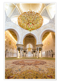 Poster  Gold sheen of the Sheikh Zayed Mosque