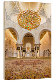 Wood  Gold sheen of the Sheikh Zayed Mosque