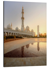 Alu-Dibond  Sheikh Zayed mosque in golden robe