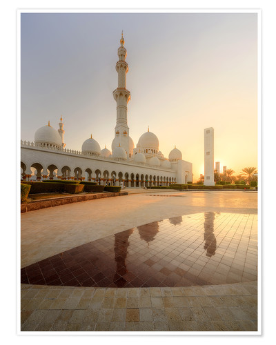 Poster Sheikh Zayed mosque in golden robe
