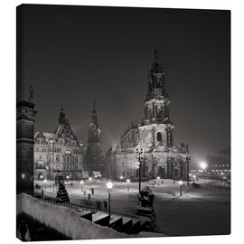 Canvas print  Dresden Frauenkirche in winter
