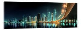 Acrylic print  Panoramic view - Dubai Business Bay