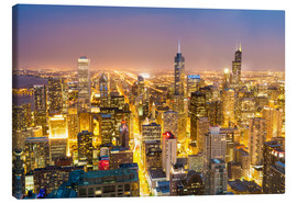 Canvas print  Golden Chicago