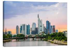 Canvas print  Frankfurter Skyline