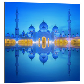 Alu-Dibond  Sheikh Zayed Grand Mosque at blue