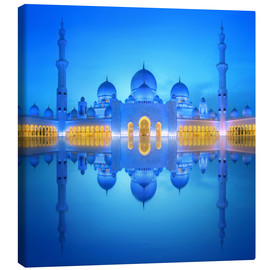 Canvas print  Sheikh Zayed Grand Mosque in blue